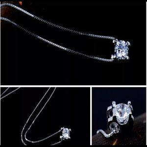 😍Stunning Solitaire ASHA Diamond 💎s925 Necklace